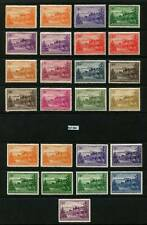 Norfolk Islands Stamps 1947-52 SG1-12a Incl Whiter Papers/Shades MM Set 21