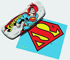 Spoontiques Padded Superman Eye Glass Case with Matching Lens Cloth