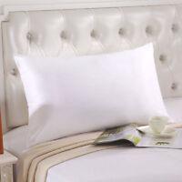 """100% Pure Mulberry Silk Zipper Pillowcase Pillow Cover Fit Queen Standard20""""*30"""""""