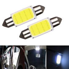 2Pcs COB 39mm White Festoon Interior Dome LED Light Car Lamp Bulb Universal