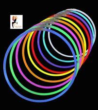 "22""Glow in the Dark Neon Necklaces Halloween Glow Sticks Bracelets Party Favour"
