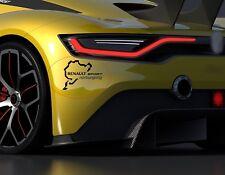 Para Renault Nurburgring Sport Auto Pegatina De Vinilo Paragolpes Ventana Puerta Calcomanía Gráfico
