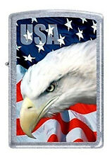 USA Eagle and Flag Zippo Lighter - New in Box!
