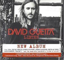 DAVID GUETTA / LISTEN - DELUXE EDITION - 2CD'S 2014 * NEW & SEALED * NEU *