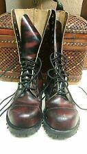DR Marten GETTA GRIP made in England Leather hightop combat boots Vtg Sz uk 6