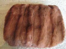 """Vintage Warm Brown large 18"""" x 15' Mink Fur Muff Hand Warmer"""