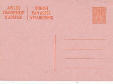 Belgium 9f Change of Adress Postcard (Dual language) Unused VGC