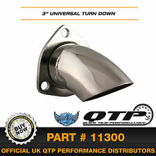"QTP 11300 3"" Polished Stainless steel Exhaust Universal Turn down Adjustable"