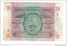 BMA 2 SHILLINGS 6 PENCE BRITISH MILITARY AUTORITY 1943 LOTTO 249