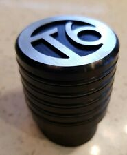 VW T6 Logo Gear Shift Knob Aluminium Ribbed Black