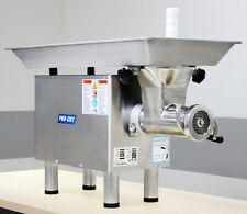 COMMERCIAL #22 BUTCHER MEAT GRINDER  2HP 220 V 1 PH STAINLESS HEAD, RING & WORM