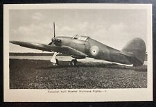 Mint Canada Real Picture Postcard Aviation Hawker Hurricane Fighter