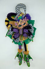 Mardi Gras Door Swag - Wall Décor Mask Jester Katherine's Collection 28-828111