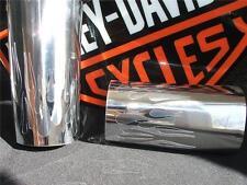 Custom Graphics for Harley Davidson Fork Slider Covers, FLSTF Colored Chrome
