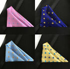 9 PCS Polka Dots Handkerchiefs Jacquard Men's Pocket Square Silk Various Colors