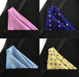 Novelty Polka Dots Handkerchiefs Jacquard Men's Pocket Square Silk Various Color
