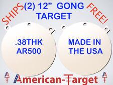 American-Target AR500 3/8 steel shooting target 12 inch round gong target