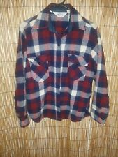 WOOLRICH SIZE 14 BUTTON FRONT PLAID LADIES LONG SLEEVE TOP WITH  2 POCKETS
