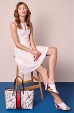 Tory Burch Eyelet Fit & Flare White Dress XL