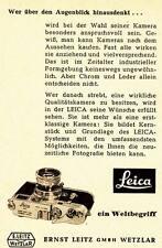 1955 Leica Wetzlar Kamera Ein Weltbegriff 7x10 cm original Printwerbung