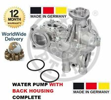FOR AUDI 100 1.6 1.8 2.0 E 1976-1992 WATER PUMP KIT WITH BACK HOUSING