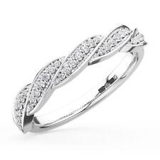 0.20CT Round Diamonds Curve Wave Half Eternity Wedding Ring in 950Platinum