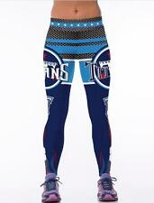 New Wide Belt Legging Tennessee Titans  No.8 printed High Waist rugby 1053