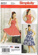Vtg 50s Retro Rockabilly Shoulder Strap Dress Sewing Pattern Plus 20 22 24 26 28