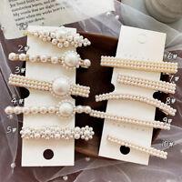 Fashion Women Pearl Flower Barrette Hair Clip Stick Hairpin Hair Accessories