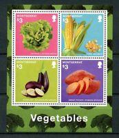 Montserrat 2014 MNH Vegetables 4v M/S Plants Lettuce Corn Eggplant Stamps