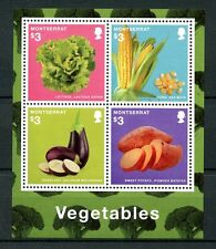 Montserrat 2014 MNH Vegetables 4v M/S Plants Lettuce Corn Eggplant Stamps
