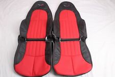 Custom Made 1997-2004 C5 Corvette Real Leather Seat Covers for Base Two Tone