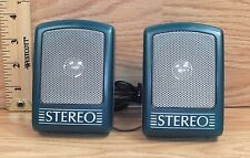 Unbranded/Generic Blue Small Portable 3.5mm Wired Stereo Speakers **READ**