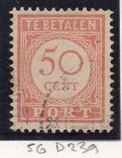 Dutch Indies 1913-39 Port Postage Due Issue Fine Used 50c. 163439