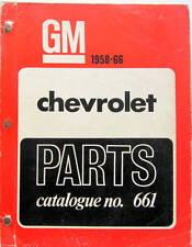 1958-66 CHEVROLET  PARTS  CATALOG N°661 EN ANGLAIS ET FRANCAIS