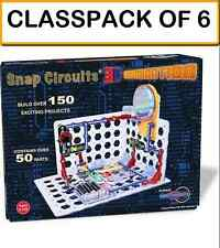 (CLASSPACK OF 6) Snap Circuits SC-3Di 3D Illumination -  Build over 150 projects