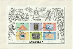 ANGUILLA 1979 ROWLAND HILL CENTENARY SOUVENIR SHEET ON FIRST DAY COVER