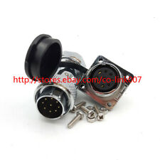 Ws20 9pin Waterproof Connectorpower Cable Connector 5a High Voltage Plug Socket