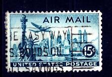 USA - STATI UNITI - 1947 - Posta aerea: Vista e aerei. Statua della Libertà e Ne