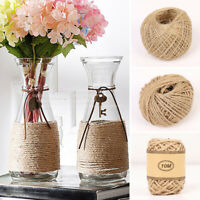 10/50/100M Natural Brown Jute Hemp Rope Twine String Cord Shank Craft Making DIY