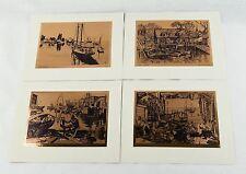 Vintage 1970's Lionel Barrymore Copper Foil Etch 4 Print Set 246-112