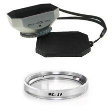 30mm Silver Mennon Hood + MCUV Filter for Sony DCR-SR52E, DCR-DVD203, Camcorder
