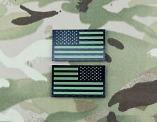 Mini Small US IR Flag Patch Set Green & Black NSWDG CAG NSW DEVGRU Infrared
