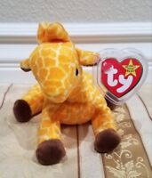 """*RARE* Ty Beanie Baby - """"Twigs"""" Giraffe - MWMT w/ERRORS and Tag Protector"""