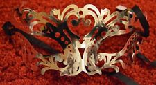 NEW Silver patterned mirror finish look Masquerade Mask Eye Gothic halloween