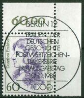 Berlin 824 Eckrand gestempelt Vollstempel ESST Berlin 12 Ecke 2 Frauen 80 Pf.
