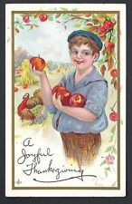 Thanksgiving Embossed Posted Collectable Greeting Postcards