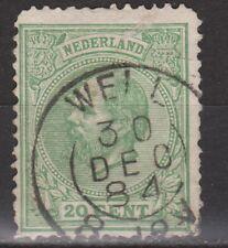 NVPH Netherlands Nederland 24 TOP CANCEL WELL Willem III 1872