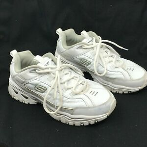 Skechers Energy Afterburn 50081 Athletic Shoes Men's Size 9.5 White Lace-up [A3]
