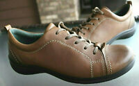 Ecco Women's 38 7-7.5 Brown Leather Cap Toe Casual Oxford Shoes